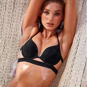 Black push up bikini top